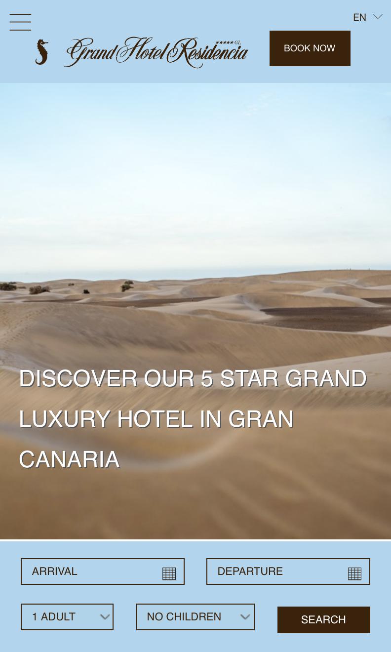 Home en versión móvil de Seaside Grand Hotel Residencia