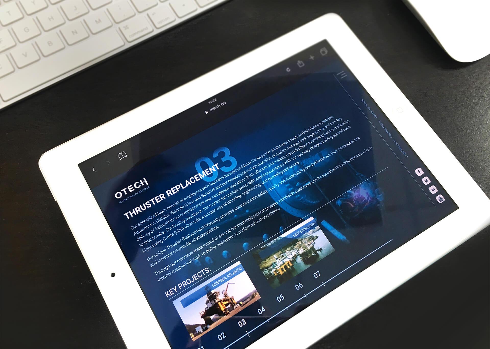 Web Otech en un Ipad