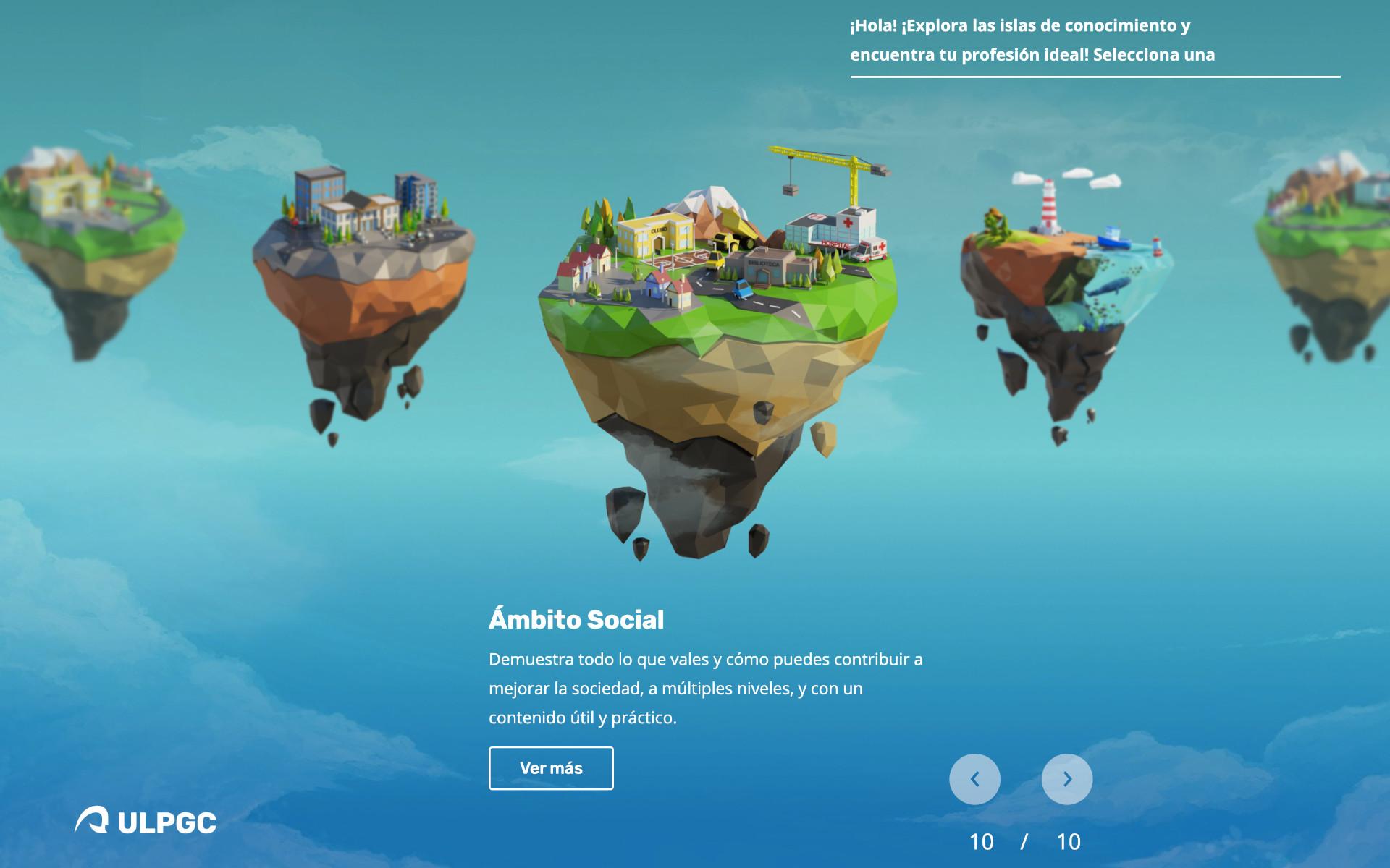 Islas por áreas de conocimiento