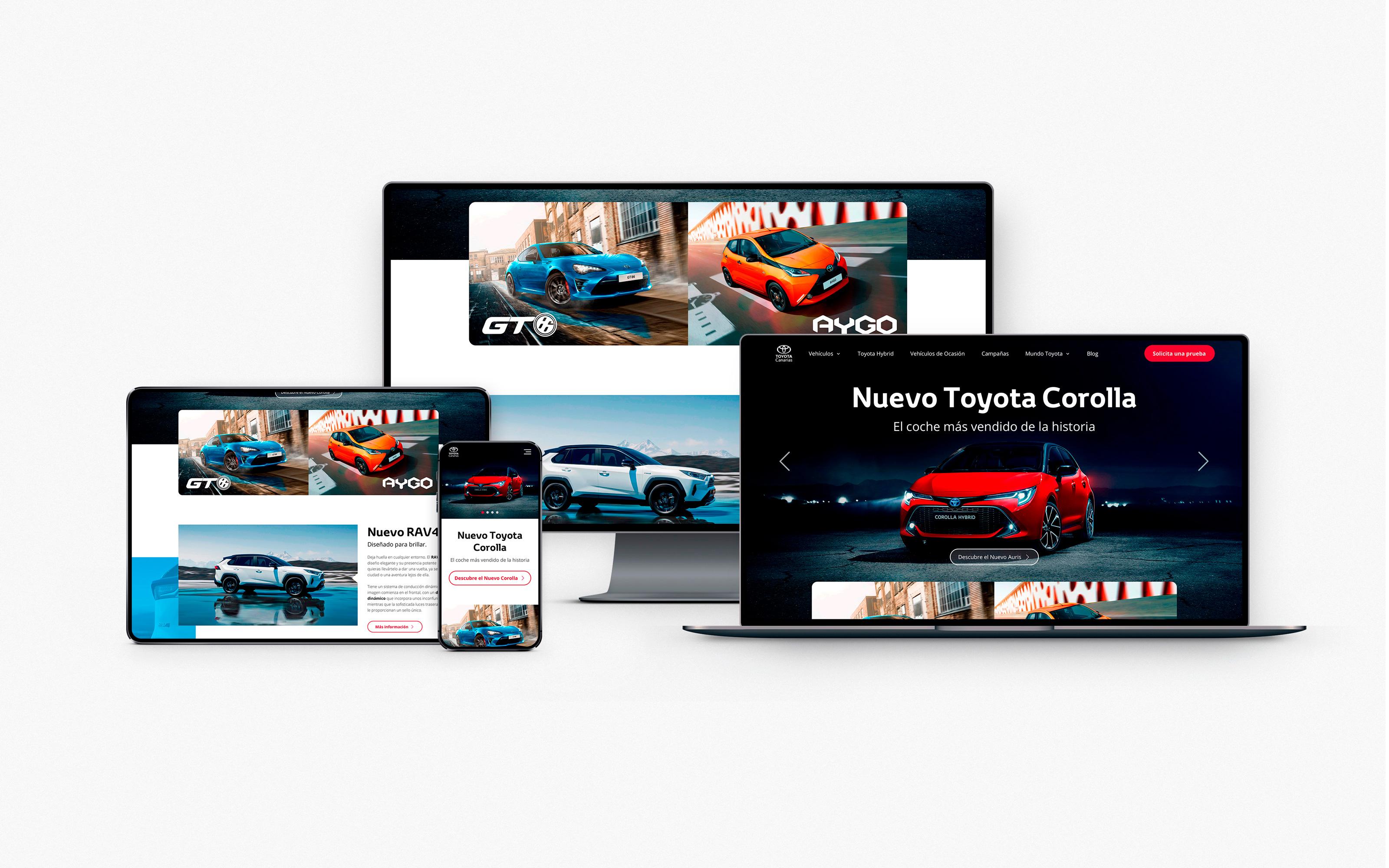 Responsive design Toyota Canarias