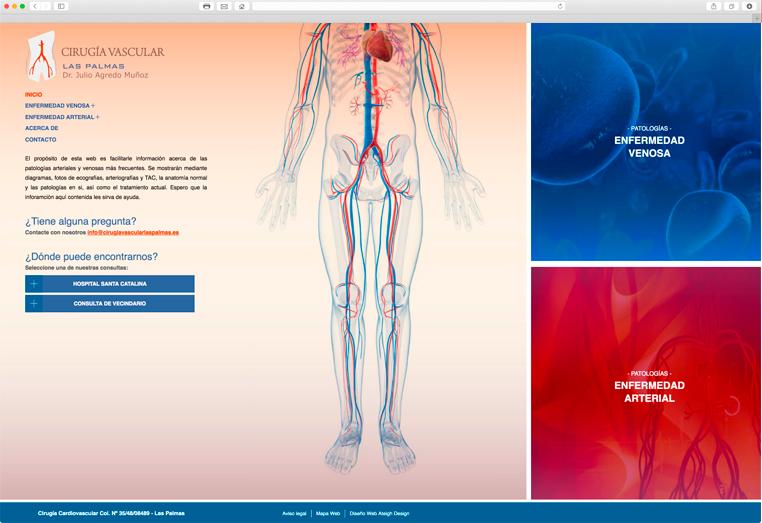 Portada de la Web de Cirugía Vascular Las Palmas