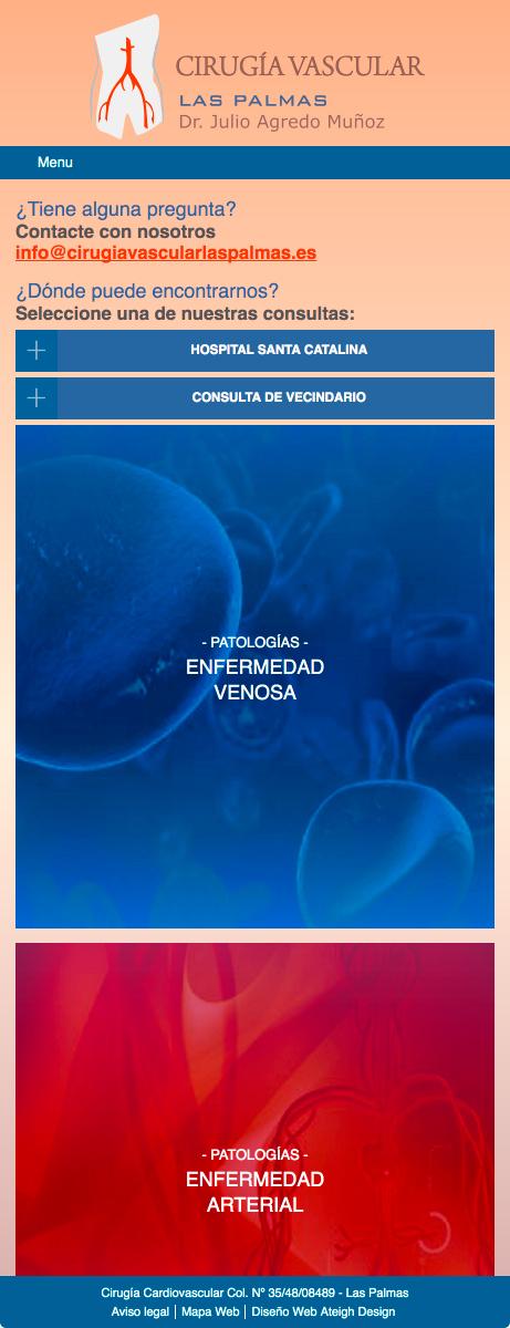 Versión móvil de la Web de Cirugía Vascular Las Palmas
