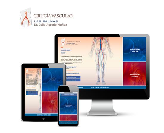 Responsive Web Design Cirugía Vascular Las Palmas. Adaptada a dispositivos