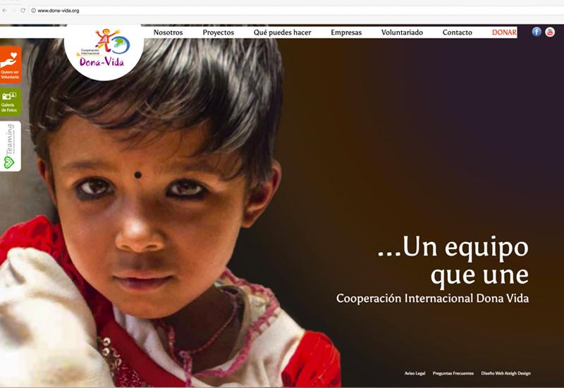 Portada de la web de Cooperación Internacional Dona Vida