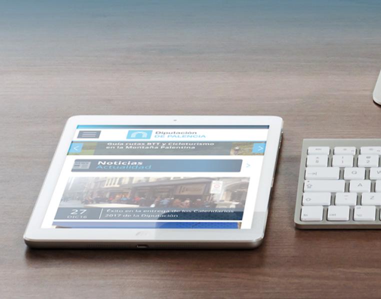 Ipad con web de la Diputación de Palencia