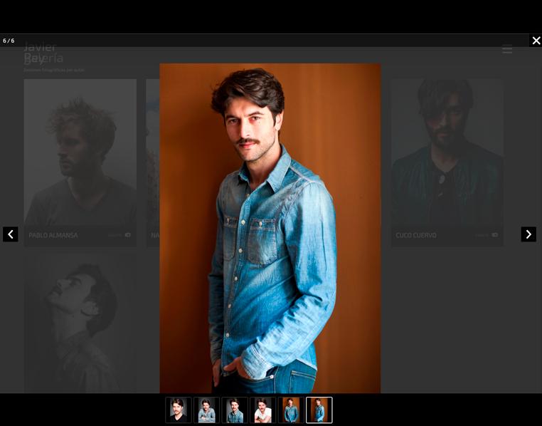 Galería de imágenes y detalle de una foto de Javier Rey