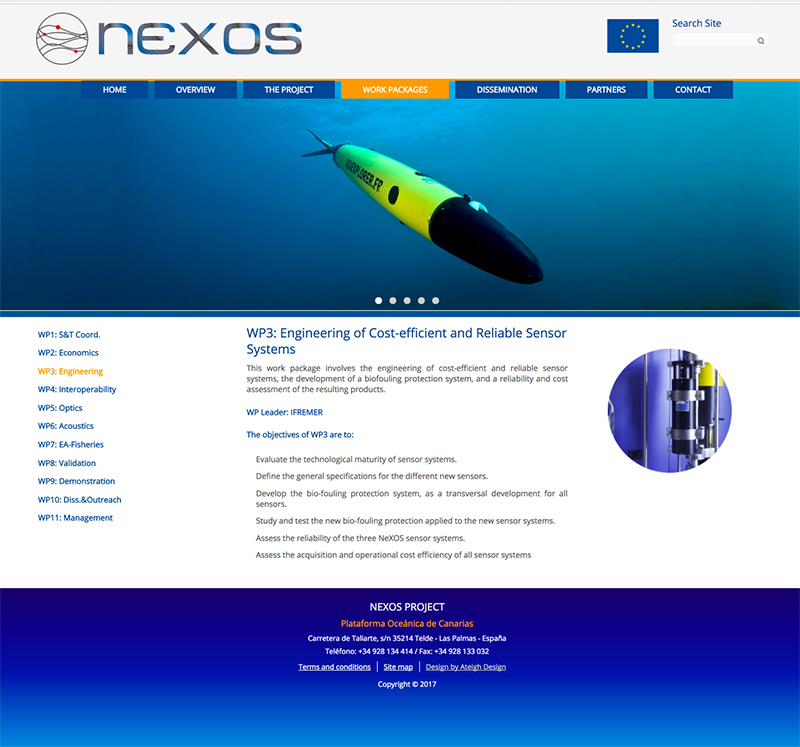 Apartado de la web The Nexos Project