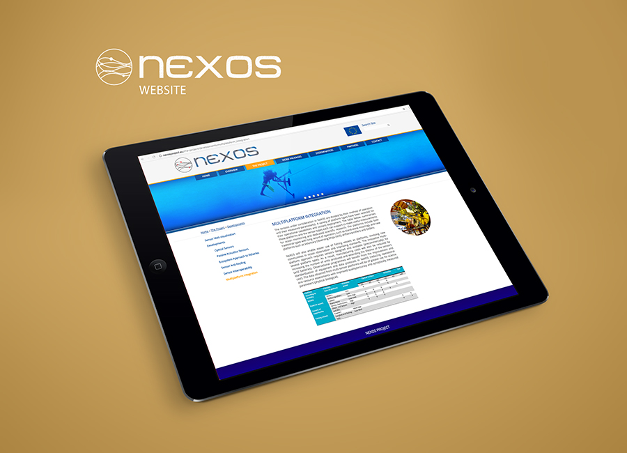 Tablet con la web The Nexos Project