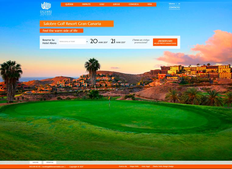 Portada de la web de Salobre Golf Resort