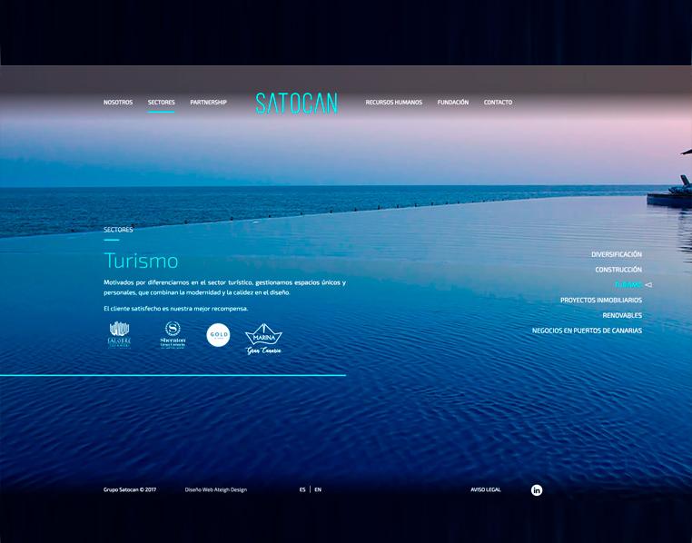 Apartado de Turismo de la web de Satocan