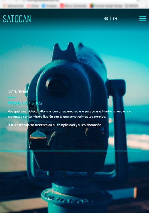 Versión móvil de la web de Satocan