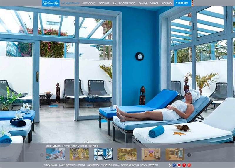 Galería de imágenes de la web de Seaside Los Jameos Playa